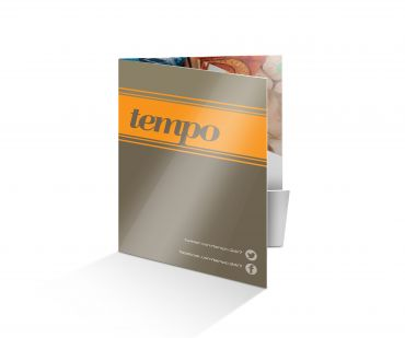 A6 1 Pocket Soft Touch laminated Folder with Spot UV