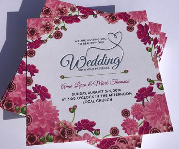 Double Bonded Invitations - DL